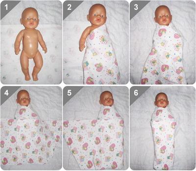 Как пеленать новорожденного правильно