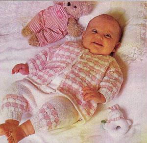 вязание спицами детской кофточки для начинающих