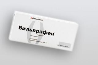 Вильпрафен Солютаб используется при лечении кожных заболеваний