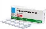 Пирацетам: от чего назначают препарат