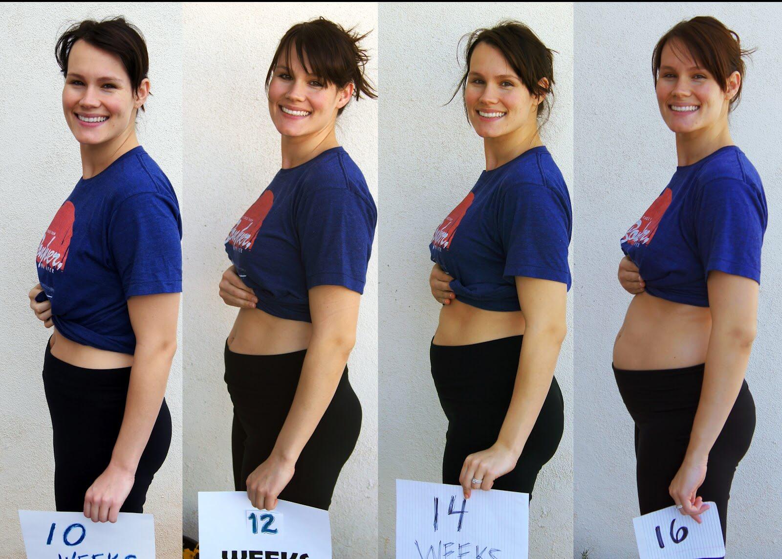 Какой живот на 10 неделе беременности