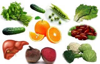 Большое количество фолиевой кислоты содержится в растительной пище