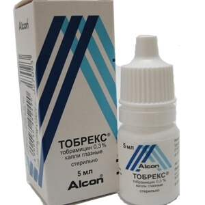 Капли Тобрекс используют для лечения глазных болезней у детей