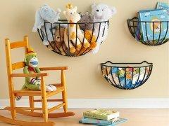 Где хранить детские игрушки: оригинальные идеи для хранения
