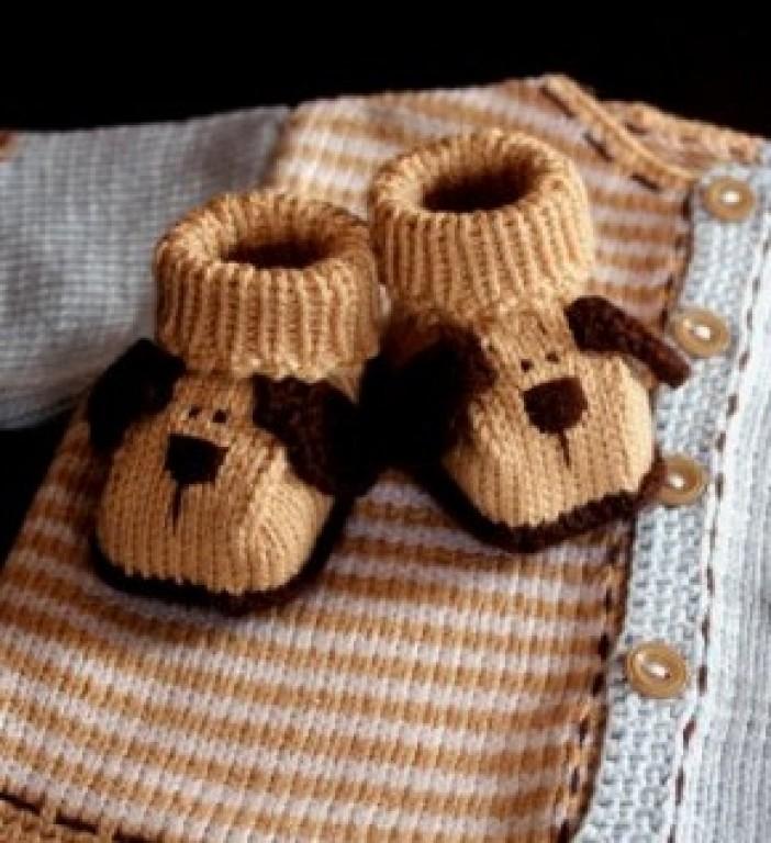 Вязание пинеток для новорожденных